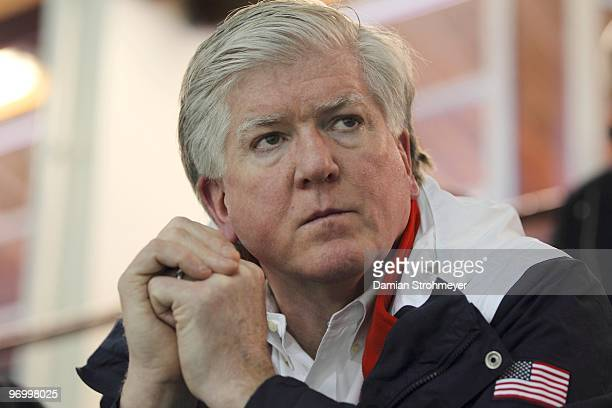 Winter Olympics: Closeup of Team USA general manager Brian Burke during Men's Practice at Brittania Centre. Vancouver, Canada 2/17/2010 CREDIT:...