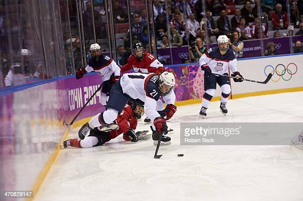 2014 Winter Olympics USA Hilary Knight in action vs Canada during Women's Gold Medal Game at Bolshoy Ice Dome Canada wins gold Sochi Russia 2/20/2014...