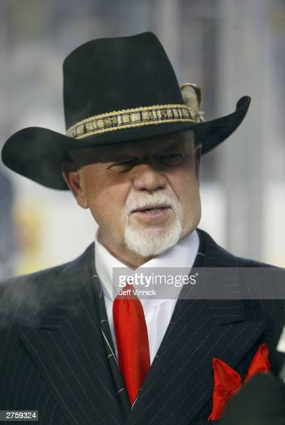 Hockey analyst Don Cherry after the Montreal Canadiens faced the Edmonton Oilers in the Molson Canadien Heritage Classic on November 22 2003 at...