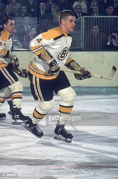 Hockey Boston Bruins Bobby Orr in action vs New York Rangers New York NY 11/9/1967