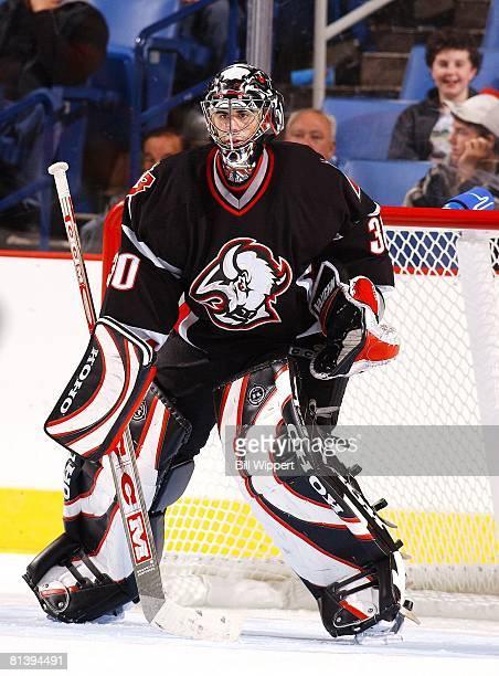 Hockey Buffalo Sabres goalie Ryan Miller during preseason game Buffalo NY 10/4/2003