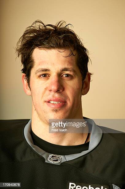 Closeup portrait of Pittsburgh Penguins Evgeni Malkin during photo shoot at CONSOL Energy Center Pittsburgh PA CREDIT Fred Vuich