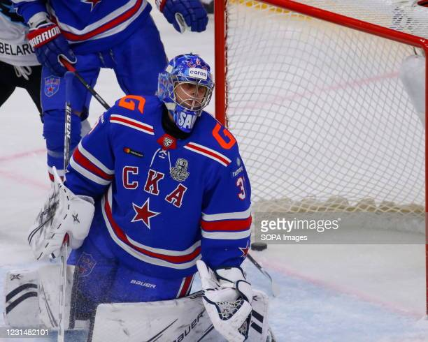 Hockey Club player, Alexander Samonov in action during the Kontinental Hockey League, playoffs, 1/4 finals of the Western Conference of the Gagarin...