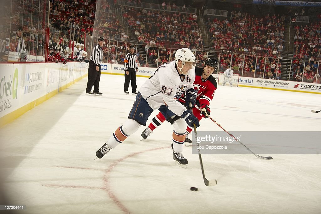 finest selection 008e2 65ffd Edmonton Oilers Ales Hemsky in action vs New Jersey Devils ...