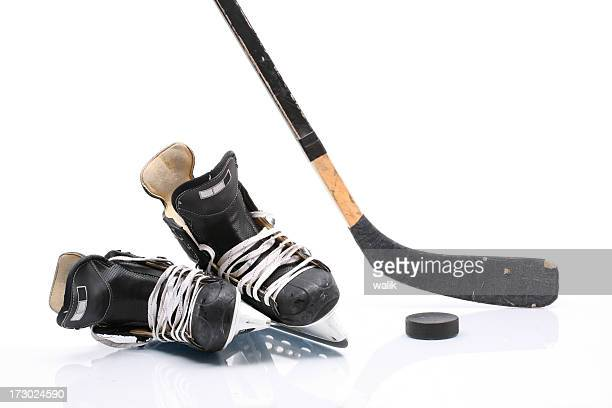 hockey equipment - ice hockey stick stock pictures, royalty-free photos & images