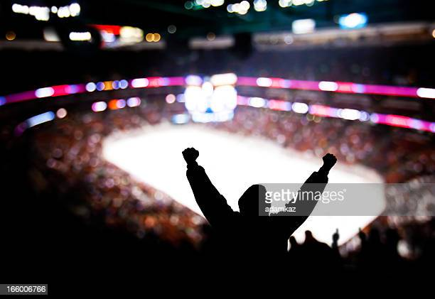 hockey excitement - fan enthusiast stock photos and pictures