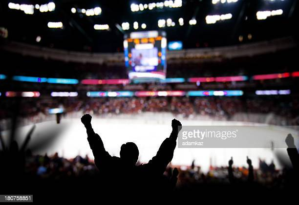 hockey excitement - supporter stock pictures, royalty-free photos & images