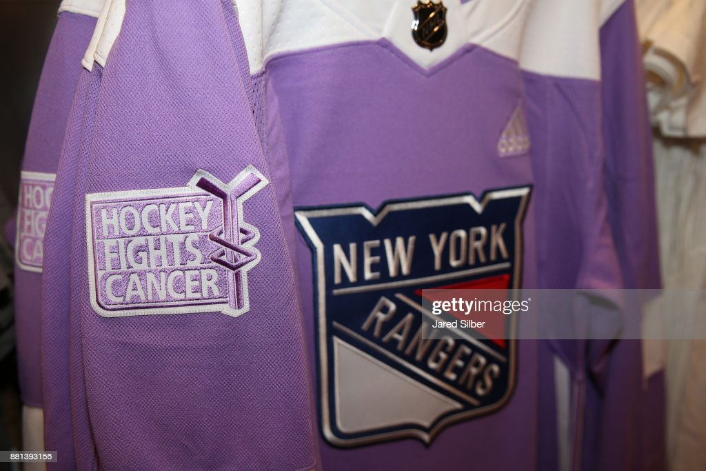 size 40 837ee 5bc90 Hockey Fights Cancer merchandise on display in the team ...
