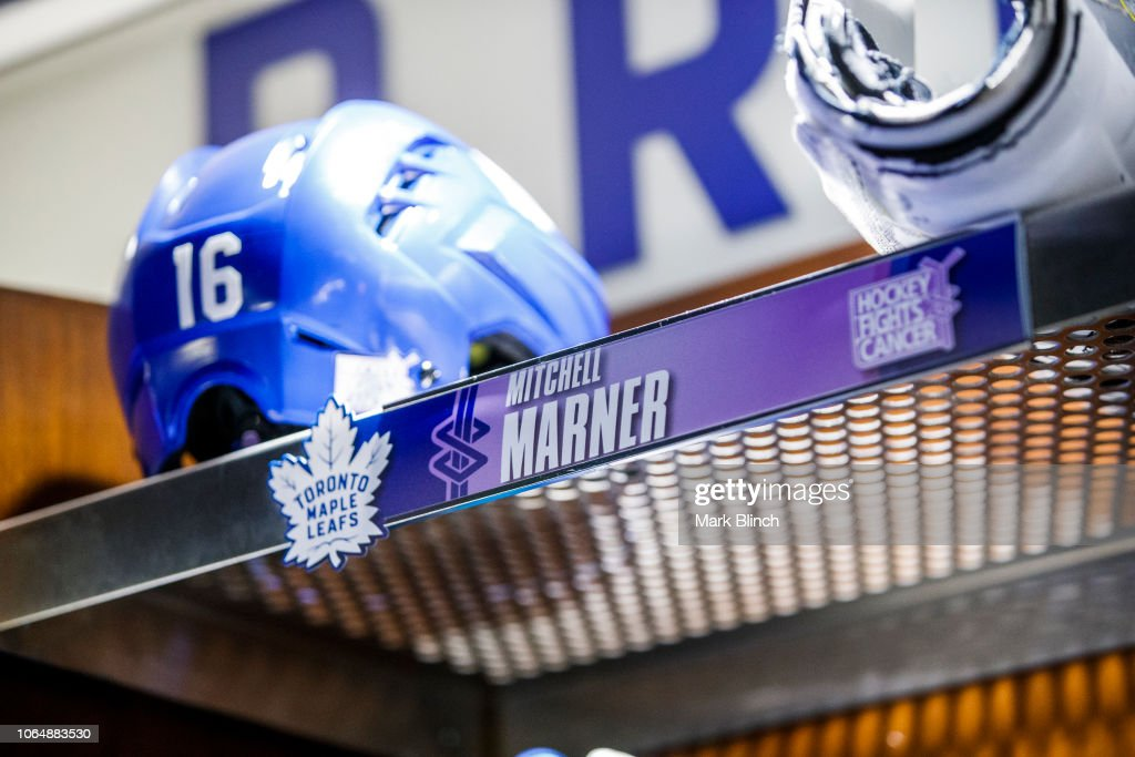 new styles 1a2c5 47fe3 Hockey Fights Cancer name plates in the Toronto Maple Leafs ...