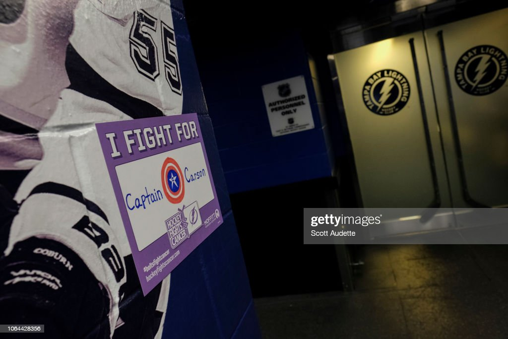 low priced caf38 fa9ca Hockey Fights Cancer night at the Tampa Bay Lightning ...