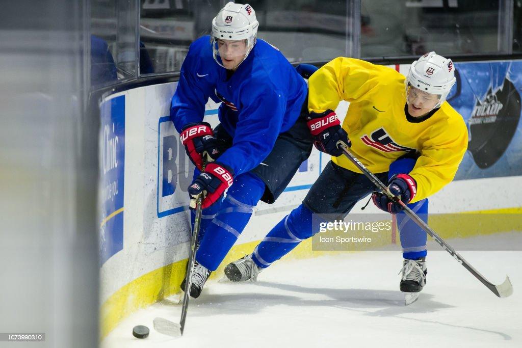 HOCKEY: DEC 15 U.S. National Junior Hockey Camp : News Photo