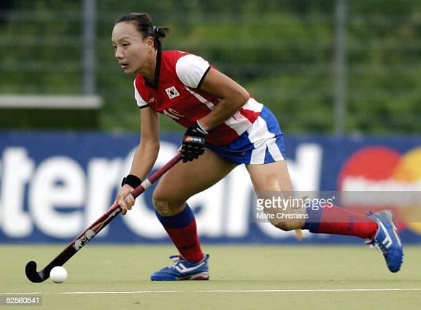 Hockey / Frauen: Vier Nationen Turnier 2004, Hamburg; Deutschland - Korea ; Ko Woon OH / Korea 11.07.04.