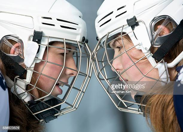 hockey girls face off - face off sports play stock pictures, royalty-free photos & images