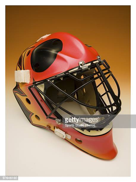 Hockey goalie mask photographed in the studio on March 11 2010 in Los Angeles California
