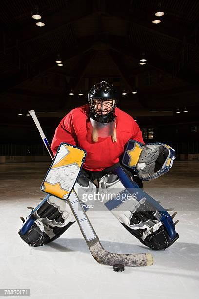 Hockey Goalie on Ice