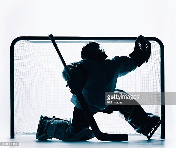 hockey goalie - hockey stick stock pictures, royalty-free photos & images