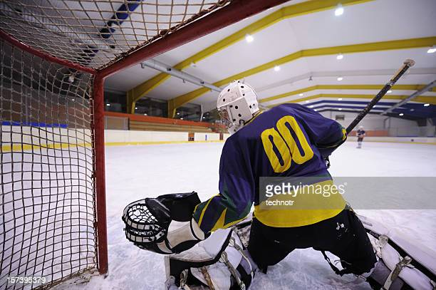 hockey goalie - ice hockey player stock pictures, royalty-free photos & images