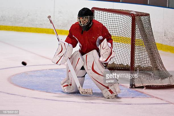 hockey goaltender action shot - ice hockey glove stock pictures, royalty-free photos & images