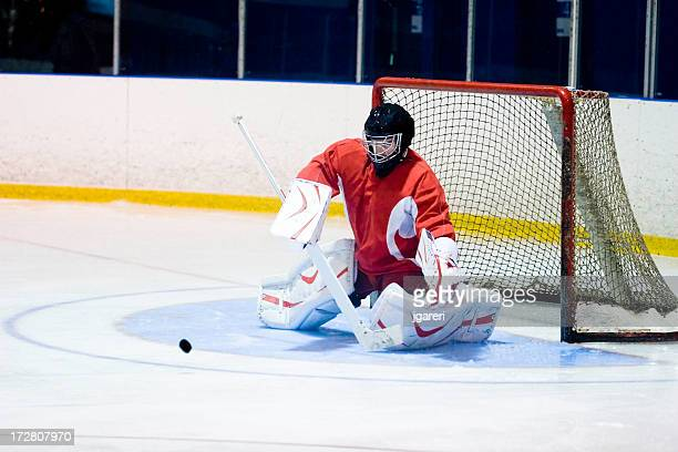 Hockey Goaltender Action Shot