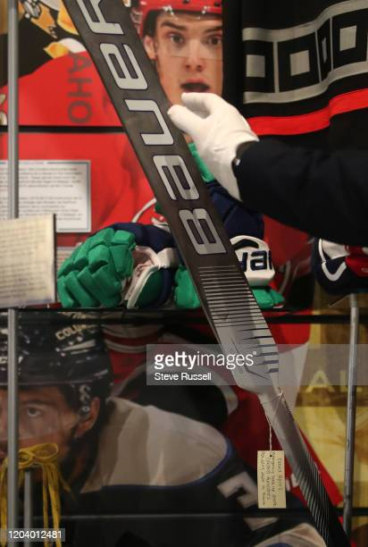 Hockey Hall of Fame added to their collection the stick used last week by David Ayres, the Zamboni driver and the Operations Manager at Mattamy...