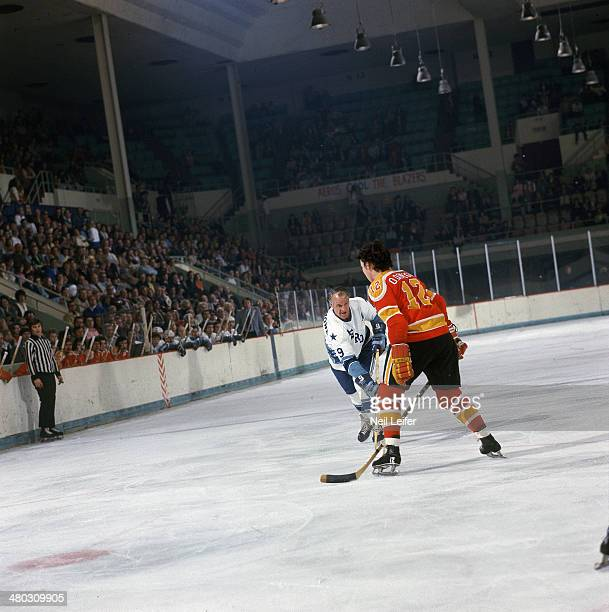 Houston Aeros Gordie Howe in action shot vs Vancouver Blazers Don O'Donoghue at Sam Houston Coliseum Houston TX CREDIT Neil Leifer