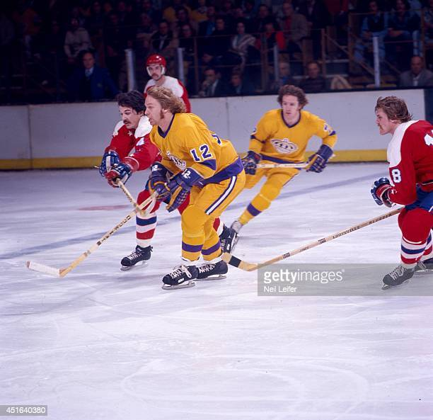 Los Angeles Kings Gene Carr in action vs Washington Capitals at The Forum Inglewood CA CREDIT Neil Leifer