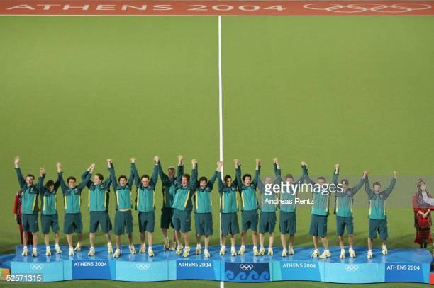 Hockey / Maenner Olympische Spiele Athen 2004 Athen Gold Medaillenspiel / Niederlande Australien 12 nV Gold Team Australien 270804
