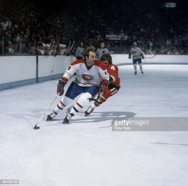 Montreal Canadiens Guy Lafleur in action vs Cleveland Barons Montreal Canada 2/23/1978 CREDIT Tony Triolo