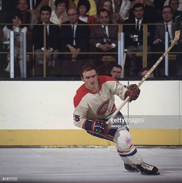 Hockey Montreal Canadiens Jacques Lemaire in action vs Los Angeles Kings Inglewood CA 3/6/1968