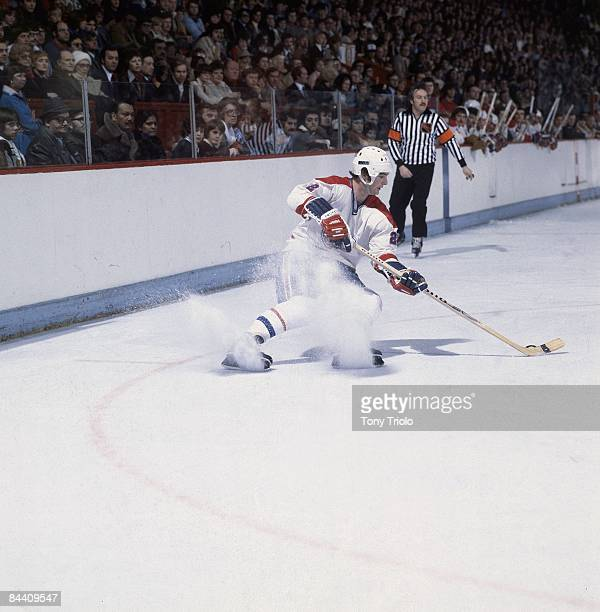 Montreal Canadiens Steve Shutt in action vs Cleveland Barons Montreal Canada 2/23/1978 CREDIT Tony Triolo