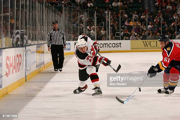 da445828e Hockey New Jersey Devils Cam Janssen in action taking shot vs Florida  Panthers Sunrise FL 1