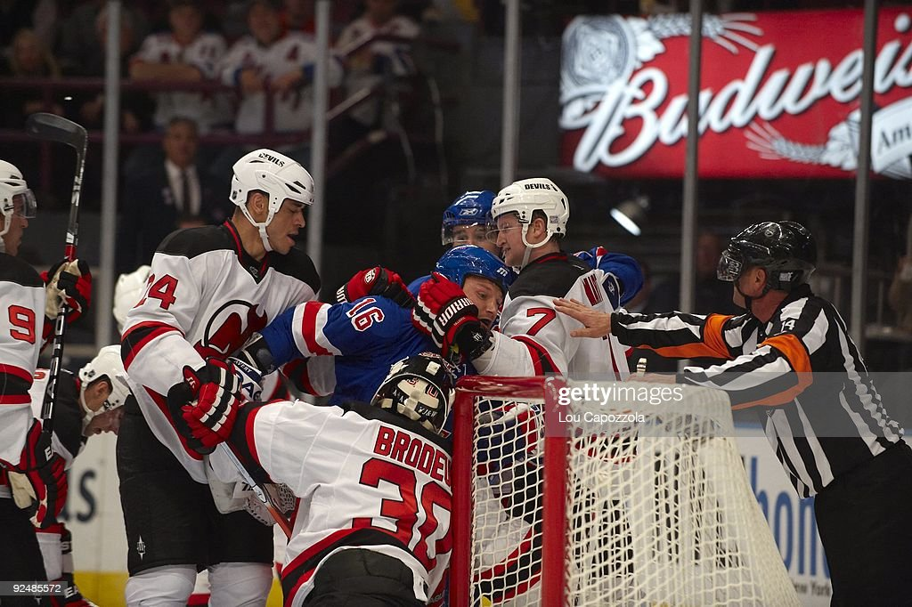 New York Rangers Sean Avery During Game Vs New Jersey Devils Paul