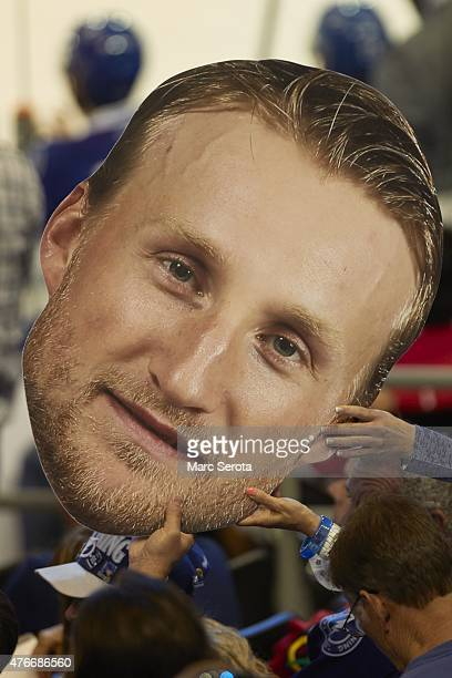 NHL Finals Closeup view of Tampa Bay Lightning Steven Stamkos cardboard cutout in stands during game vs Chicago Blackhawks at Amalie Arena Game 1...