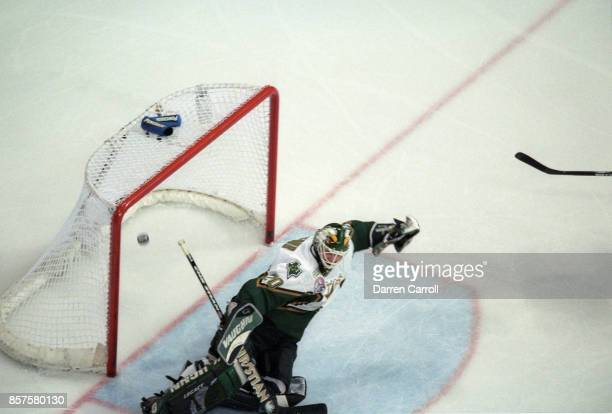NHL Finals Dallas Stars goalie Ed Belfour in action yielding game winning  goal vs New Jersey e223765f2