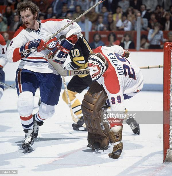 NHL Finals Montreal Canadiens Larry Robinson and goalie Ken Dryden in action vs Boston Bruins Cover Montreal Canada 5/13/19785/23/1978 CREDIT Manny...