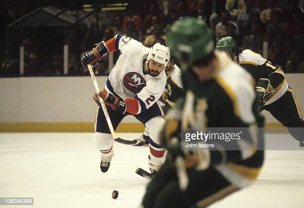 NHL Finals New York Islanders John Tonelli in action vs Minnesota North Stars at Nassau Coliseum Game 1Uniondale NY 5/12/1981CREDIT John Iacono