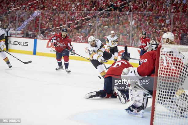 NHL Finals Vegas Golden Knights Jonathan Marchessault in action shooting vs Washington Capitals at Capital One Arena Game 3 Washington DC CREDIT...