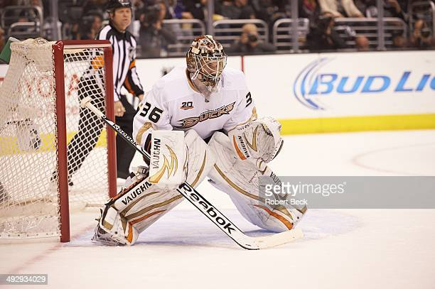 NHL Playoffs Anaheim Ducks goalie John Gibson in action vs Los Angeles Kings at Staples Center Game 4 Los Angeles CA CREDIT Robert Beck