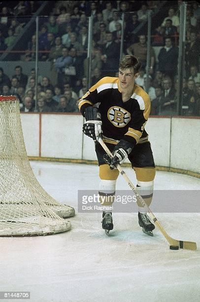 Hockey NHL Playoffs Boston Bruins Bobby Orr in action vs New York Rangers Boston MA 4/8/1970