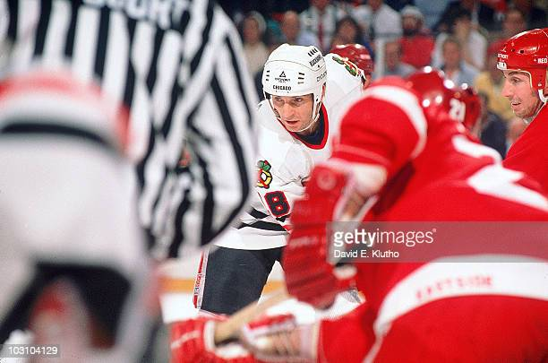 NHL Playoffs Chicago Blackhawks Denis Savard in action vs Detroit Red Wings Game 6 Chicago IL 4/13/1989 Credit David E Klutho