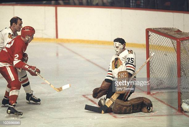 3fd05165378 NHL Playoffs Chicago Blackhawks goalie Tony Esposito in action making save  vs Detroit Red Wings Game