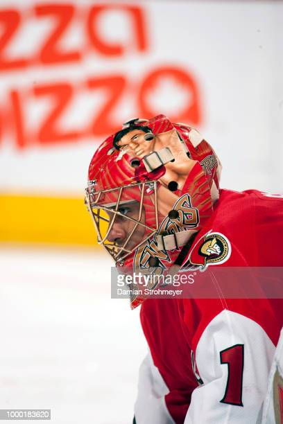NHL Playoffs Closeup of Ottawa Senators goalie Ray Emery in net during Game 4 vs Buffalo Sabres at Scotiabank Place Ontario Canada 5/16/2007 CREDIT...
