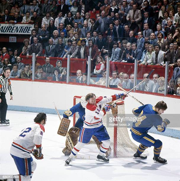 NHL Playoffs Montreal Canadiens Yvan Cournoyer in action vs Buffalo Sabres at Montreal Forum Game 6 Montreal Canada 5/8/1975 CREDIT Walter Iooss Jr