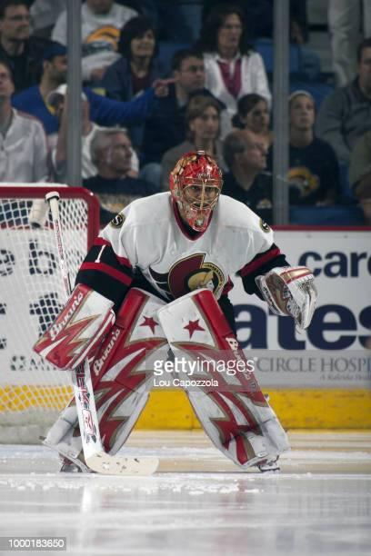 NHL Playoffs Ottawa Senators goalie Ray Emery in net during Game 5 vs Buffalo Sabres at HSBC Arena Buffalo NY CREDIT Lou Capozzola