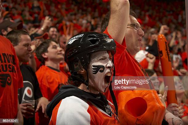 NHL Playoffs Philadelphia Flyers fans in stands during game vs Pittsburgh Penguins Game 6 Philadelphia PA 4/25/2009 CREDIT Lou Capozzola