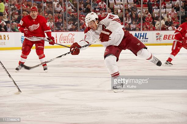 NHL Playoffs Phoenix Coyotes Shane Doan in action shot vs Detroit Red Wings at Joe Louis Arena Game 1Detroit MI 4/13/2011CREDIT David E Klutho