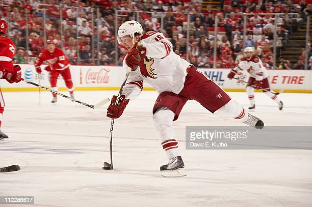 NHL Playoffs Phoenix Coyotes Shane Doan in action vs Detroit Red Wings at Joe Louis Arena Game 1Detroit MI 4/13/2011CREDIT David E Klutho