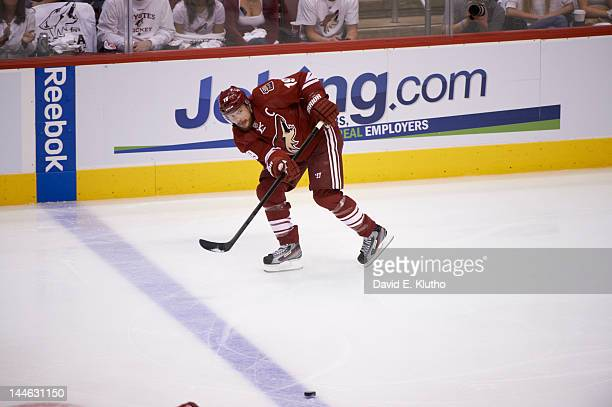 NHL Playoffs Phoenix Coyotes Shane Doan in action vs Los Angeles Kings at Jobingcom Arena Game 1 Glendale AZ CREDIT David E Klutho
