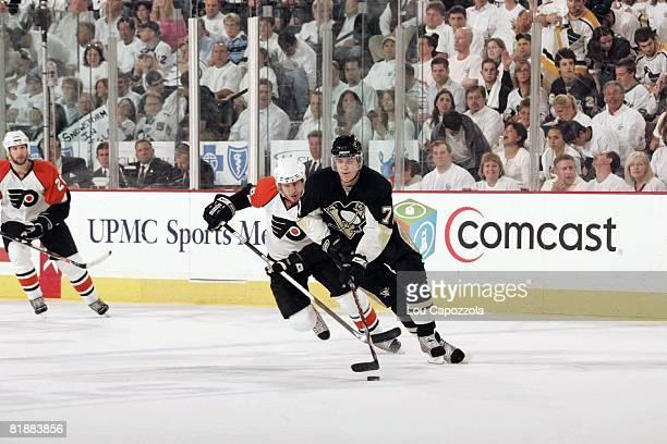 Hockey NHL Playoffs Pittsburgh Penguins Evgeni Malkin in action vs Philadelphia Flyers Game 1 Pittsburgh PA 5/9/2008