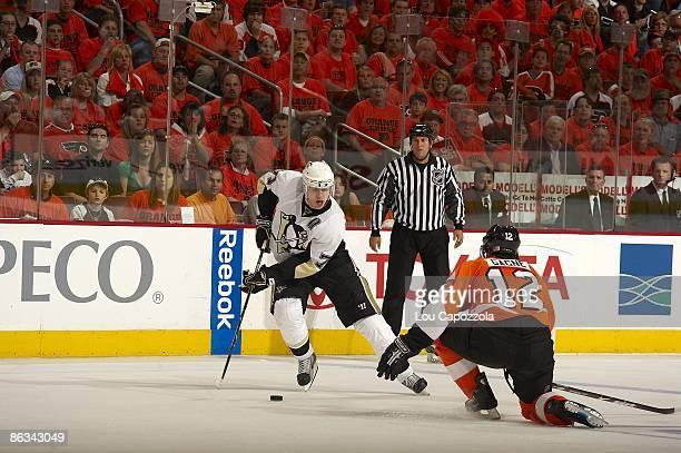 NHL Playoffs Pittsburgh Penguins Evgeni Malkin in action vs Philadelphia Flyers Game 6 Philadelphia PA 4/25/2009 CREDIT Lou Capozzola